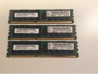 24 GB = 3 x 8GB DDR3 Server Ram minnen
