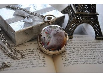 Cats/Kittens Pocket Watch Chain Watch / Mirror ZN068
