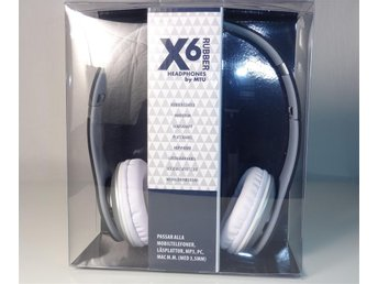 Headset X6 Rubber - iPhone - iPad - m.fl.