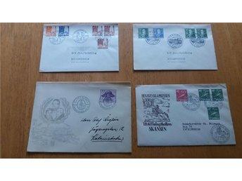 FDC 1945 - 1948 Fyra stycken - Göteborg - FDC 1945 - 1948 Fyra stycken - Göteborg