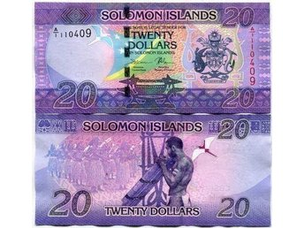 SOLOMON ISLANDS 20 DOLLARS NY DESIGN