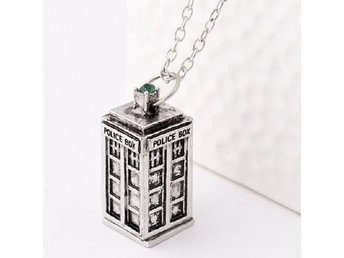 Halsband - Tardis - Doctor Who - Police Box - Silver