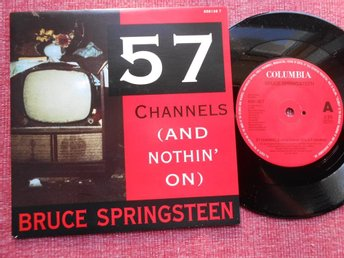 "7"" Bruce Springsteen - 57 Channels x 2 PS NL"