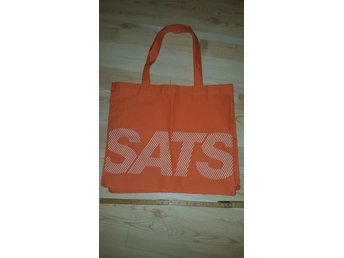 Tygväska, SATS, orange, väska, Tote Bag