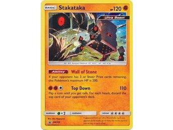 SM209 Holo Rare Promo Card Stakataka Pokemon SM Promo MINT