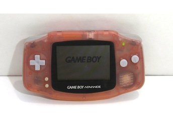 GBA konsol, transparent rosa  Game Boy Advance