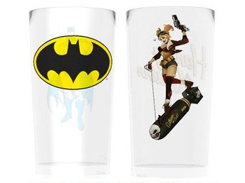 Glas (set med 2) - DC Comics Batman and Harley Quinn