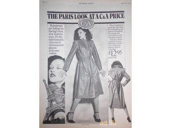 C & A - THE PARIS LOOK AT C & A PRICE, STOR TIDNINGSANNONS 1975