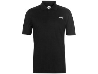 SLAZENGER CHECKED GOLF PIKE HERR SVART   LARGE