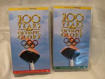 VHS - 100 Years of Olympic Glory Del 1 o 2 ,NY inplastad