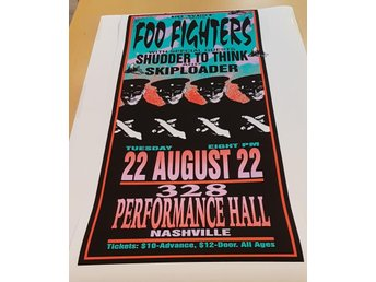 FOO FIGHTERS PERFORMANCE HALL NASHVILLE 1995 POSTER