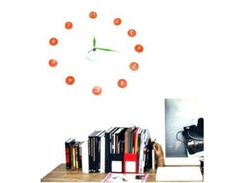 NY! Koreannska Free Style DIY Wall Decor Klock Orange