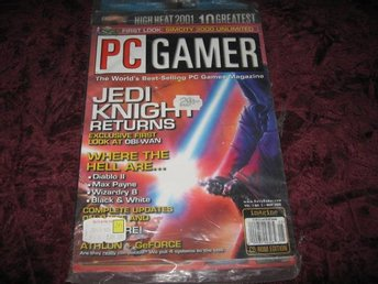 PC GAMER MAY 2000 (JEDI KNIGHT RETURNS) PÅ DEMO CD 10 BÄSTA HALF-LIFE ADD-ONS NY