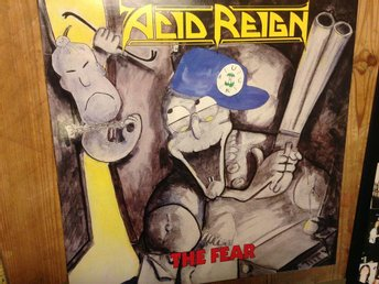 Acid Reign - the Fear, Under one flag 1989  original inner sleeve + offer sheet