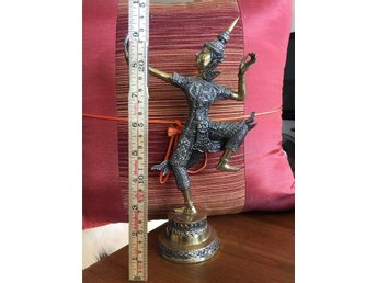 RAMA King Bow Archery Archer Dragon Ramayana Brass Bronze Statue Thai Antique