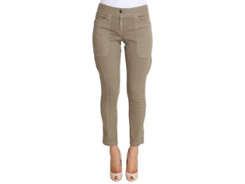 Ermanno Scervino - Beige Cotton Stretch Cropped Pants