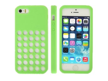 iPhone 5/5S Silikonskal Swiss Gr?n