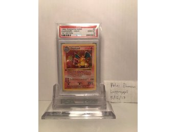 Charizard 1st Edition Shadowless Base Set, Psa 10