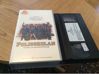 POLISSKOLAN VHS svensk text Warner Home video