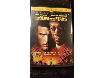 The sum of all fears DVD Special Collectors edition (Ben Affleck, Morgan Freeman