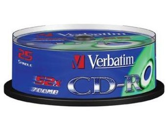 CD-R Verbatim 52x 25p 700MB, Spindel, Extra Protection