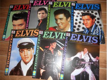 7 st. Elvis Presley fan club of Sweden tidningar 1997-1998