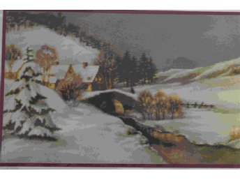 "Broderimönster ""vinter"", 230x140 rutor - Gävle - Broderimönster ""vinter"", 230x140 rutor - Gävle"