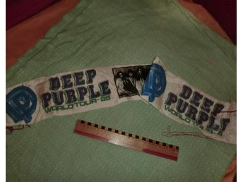 VIMPEL / SCARF DEEP PURPLE WORLD TOUR 1985