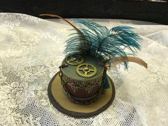 "Steampunk Mini Hat ( "" Gears April 2017 "" ) No 16  Steampunk By Alex"
