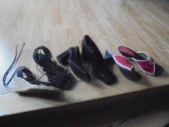 3 par skor som passar 37.5 kilklack finskor och sandalett - Kristinehamn - 3 par skor som passar 37.5 kilklack finskor och sandalett - Kristinehamn