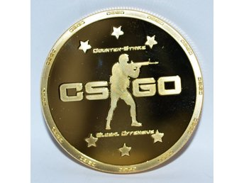 CS Go Mynt Guld Plätering (Counterstrike Global Offensive) PC Ny