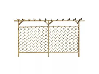 Lattice staket med pergola