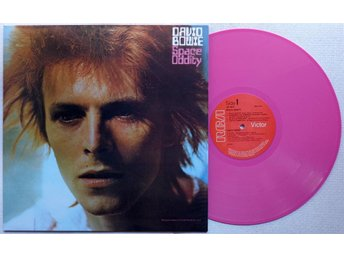 DAVID BOWIE 'Space Oddity' UK vinyl LP, PINK WAX - Bröndby - DAVID BOWIE 'Space Oddity' UK vinyl LP, PINK WAX - Bröndby
