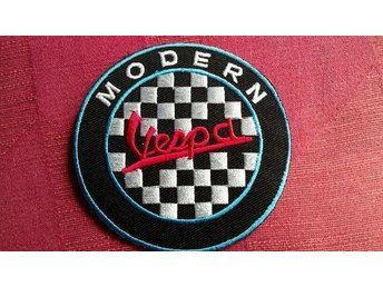 VESPA Scooter Patch Tygmärke Mods Beatles The Who London UK