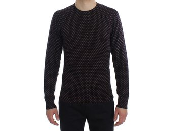 Dolce & Gabbana - Brown Polka Dot Silk Pullover Sweater