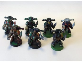 Warhammer 40K 7 st Classic Chaos Plaugue Marines