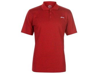 SLAZENGER CHECKED GOLF PIKE HERR RÖD   MEDIUM