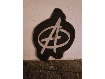 Anarki anarchy punk tygmärke patch