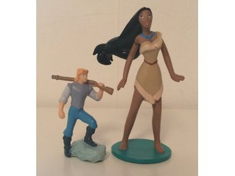 Pocahontas och John Smith - leksaks figurer  - Disney