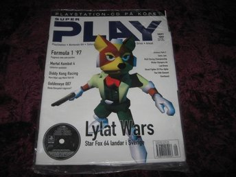 SUPER PLAY NY MED CD SEPT 1997 LYLAT WARS STAR FOX 64 INPLAS