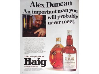 HAIG SCOTCH WHISKY TIDNINGSANNONS Retro 1968