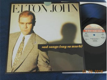 ELTON JOHN - Sad Songs (say so much) 12:a Rocket record UK '84
