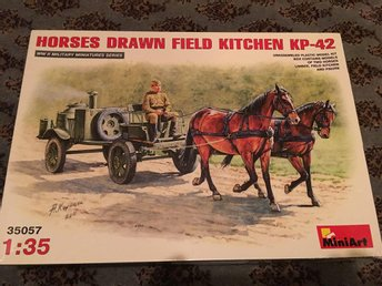 Miniart - horses drawn field kitchen KP-42. 1:35