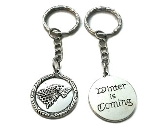 Nyckelring Winter is coming Game Of Thrones House Stark