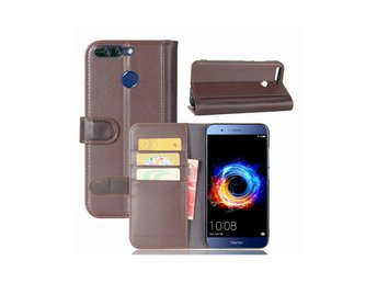 Huawei Honor 8 Pro genuine split leather flip case - Brown