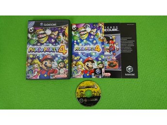Mario Party 4 SVENSK UTGÅVA KOMPLETT Gamecube Nintendo Game Cube
