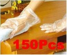 NY!150Pcs Home Restaurant Sanitary Disposable Plastic Gloves