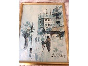 Paris målade tavla L. Basset FRI FRAKT - Rimbo - Paris målade tavla L. Basset FRI FRAKT - Rimbo