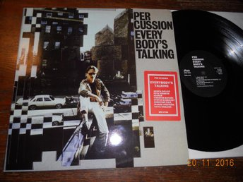 PER CUSSION - Everybody's talking, LP Silence SRS 4704, 1986 Hip Hop/Electro