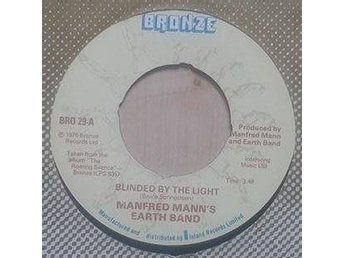 "Manfred Mann's Earth Band title* Blinded By The Light* Pop Rock, Prog Rock  7"" U"